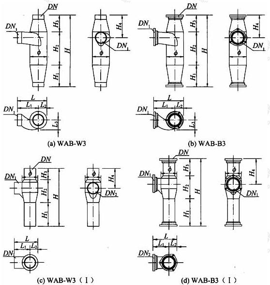 图A.1.2 三通加强型旋流器外形