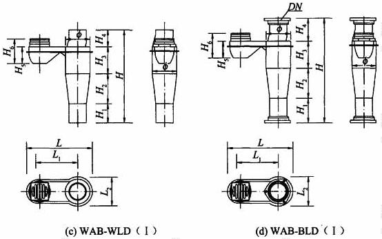 图A.2.1 阳台不降板同层排水专用导流连体地漏外形