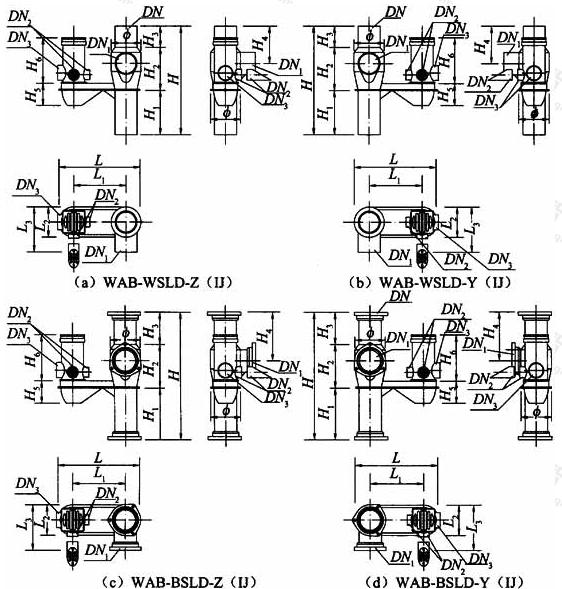 图A.2.4 卫生间传统降板同层排水专用导流三通连体地漏外形