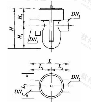 图A.2.7 厨房同层排水专用水封盒外形