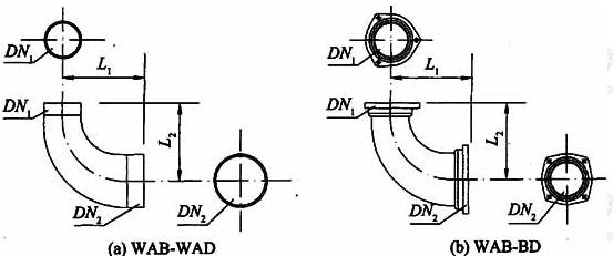 图A.3.1 底部异径弯头外形