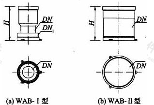 B.0.3 异层排水预埋外套外形尺寸(图B.0.3)应符合表B.0.3的规定。