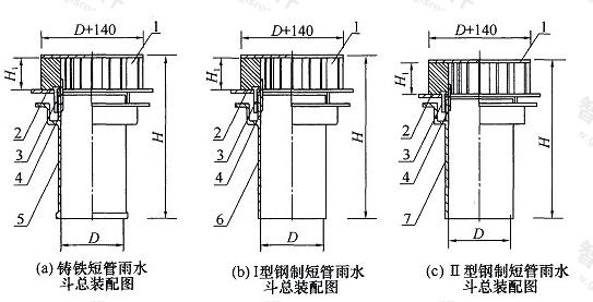 图3.2.3 87型雨水斗装配图