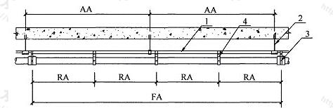 图9.6.7-1 DN40~DN200的HDPE管横管固定安装示意图