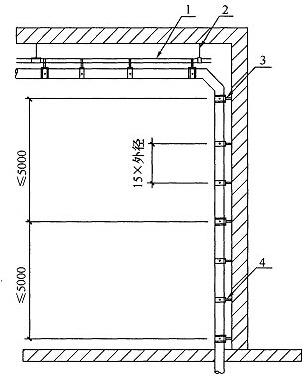 图9.6.9 HDPE管垂直固定安装示意图