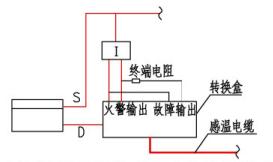 火灾报警控制器与转换盒连接示意图