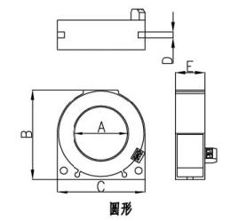 剩余电流互感器外形尺寸图(圆形)