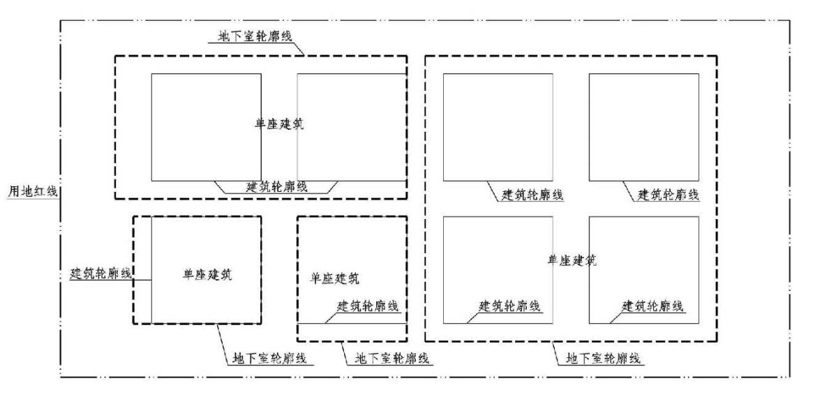 3.3.2图示 单座建筑示意图