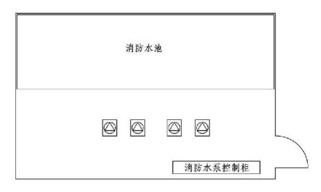 11.0.12图示 消防水泵及控制柜示意