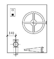 12.3.10图示 消火栓箱正面示意图