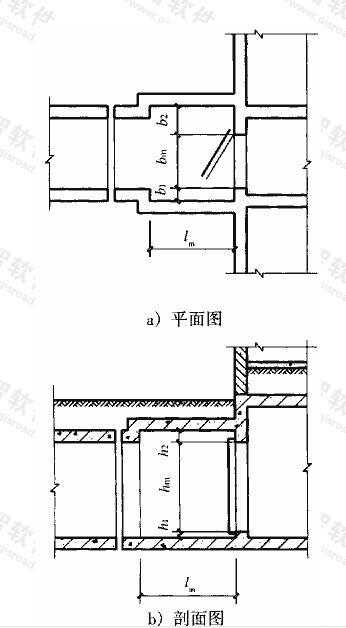图3.3.7 门前通道尺寸示意