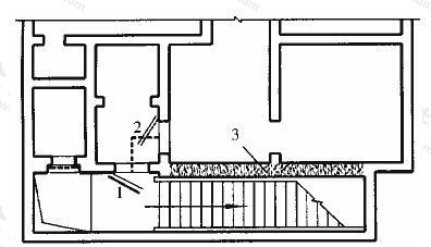 图3.3.12 附壁式室外出入口