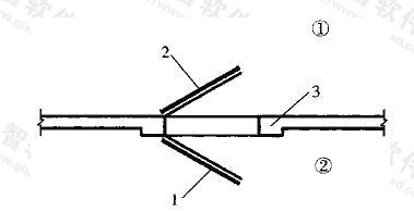 图3.2.10 防护单元之间连通口墙的两侧各设一道防护密闭门的做法