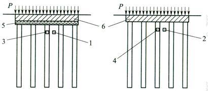 图4 混凝土基础下复合地基示意