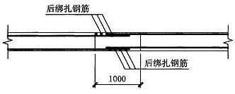 图3.3.3 楼层板后浇带