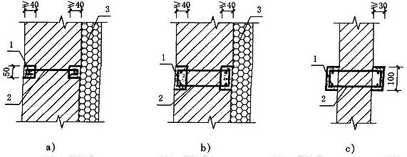 图5.6.4-1 填充墙组合柱平面示意