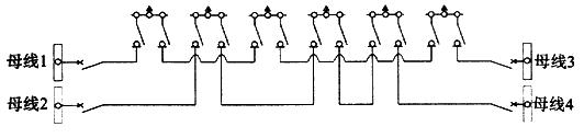 图B.0.1-8 双环网(配电站不设分段开关)