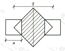 图16 加筋体计算平面示意