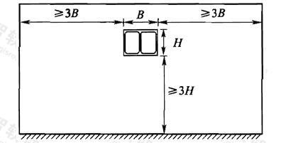 图8 一般情况下计算模型选取范围