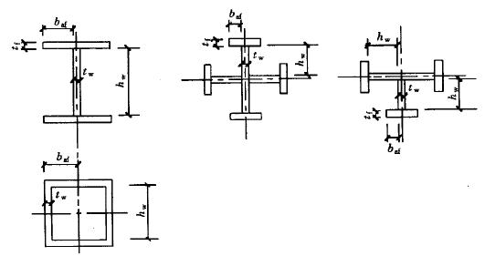图4.3.4 型钢钢板宽厚比