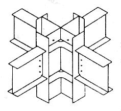 图9.1.3 型钢混凝土内型钢梁柱节点及水平加劲肋