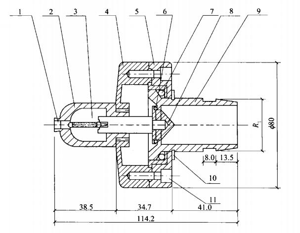 图A-1 闭式旋转型喷头