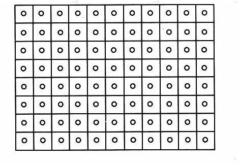 图8.2.3-1中心点法测量照度示意图