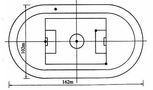 图8.3.1-2田径场眩光测量点图