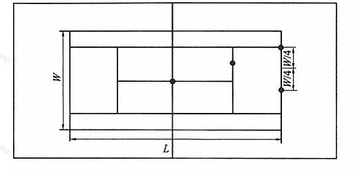 图8.3.1-3网球场眩光测量点图