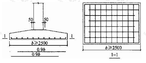 柱下独立基础底板受力钢筋布置