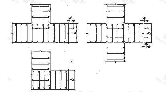 墙下条形基础纵横交叉处底板受力钢筋布置