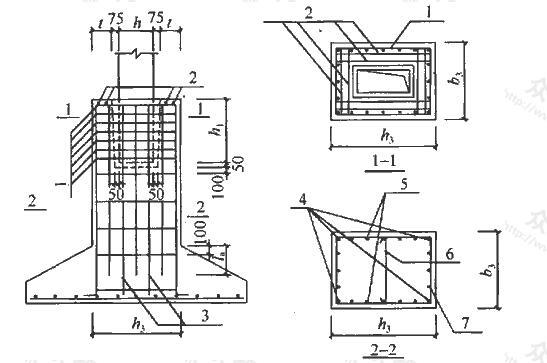 高杯口基础构造配筋