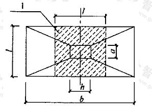 基础底板短向钢筋布置示意