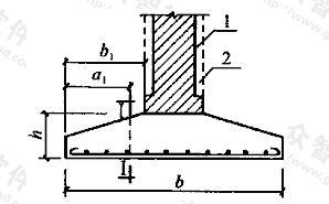 墙下条形基础的计算示意