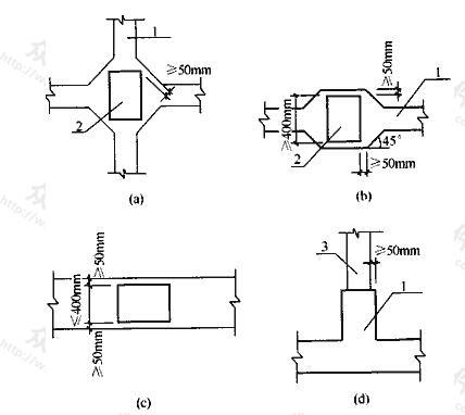 地下室底层柱或剪力墙与梁板式筏基的基础梁连接的构造要求