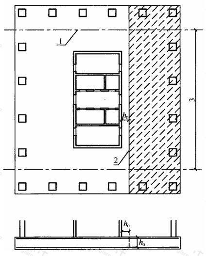 框架-核心筒下筏板受剪承载力计算截面位置和计算