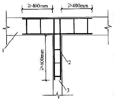 砌块墙与后砌隔墙交接处钢筋网片