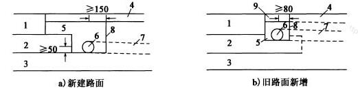 边缘排水系统示意图(尺寸单位:mm)