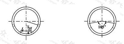 带槽孔排水管的圆孔和槽口布置示意图