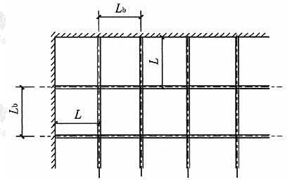 整体肋形楼板计算跨度示意图