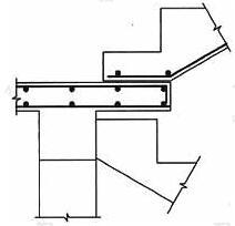 楼梯平台滑动支承于休息板示意