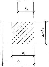 梁、柱中心线偏心示意简图