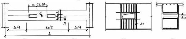 预应力梁上开矩形孔及加强构造