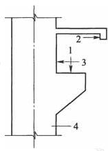 壁行起重机荷载作用位置示意