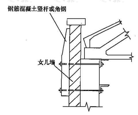 屋架之承长度不足用托木加固