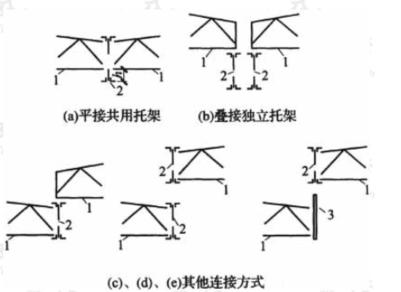 中间柱列处屋架与托架的连接形式