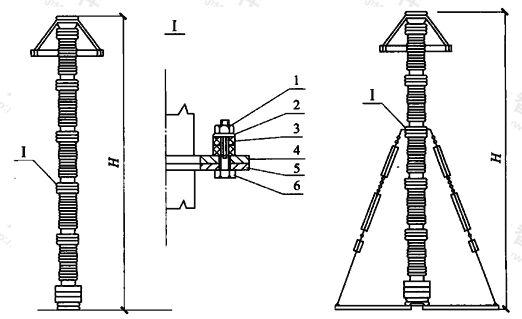 图A.3.2 避雷器减震装置示意