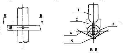 图B.2.2 环氧玻璃钢管、环向紧固钢带与垫板连接示意