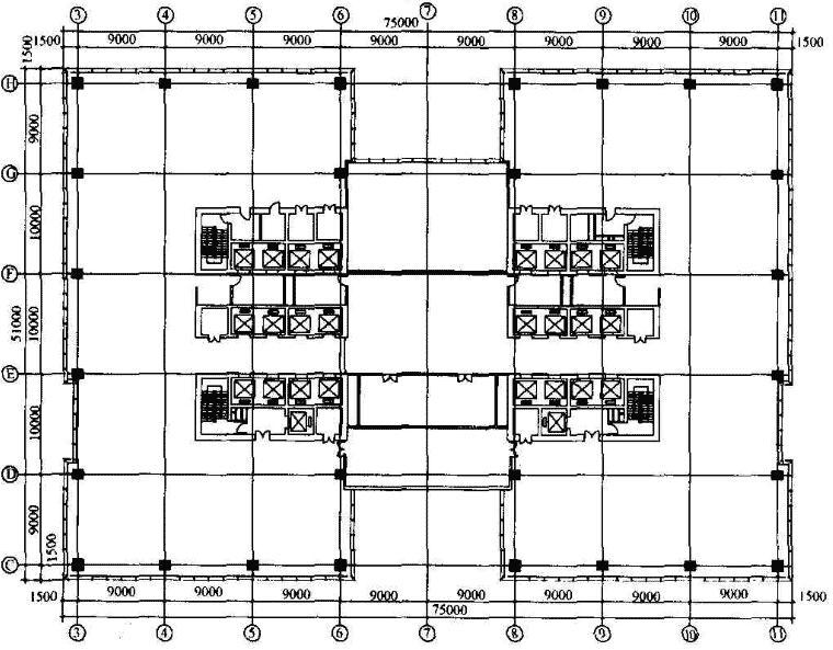标准层平面图