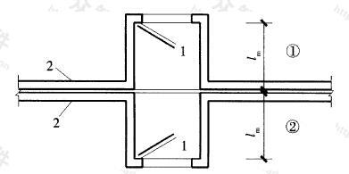 图3.2.11 变形缝两侧防护密闭门设置方式